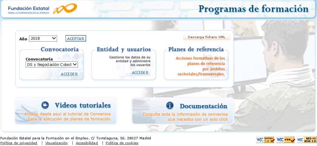 Disponible la aplicación para comunicar actividades formativas de la convocatoria de diálogo social y la negociación colectiva.