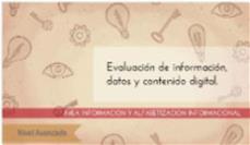 Evaluación de la información: nivel avanzado