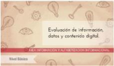 Evaluación de la información: nivel básico