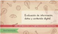 Evaluación de la información: nivel intermedio